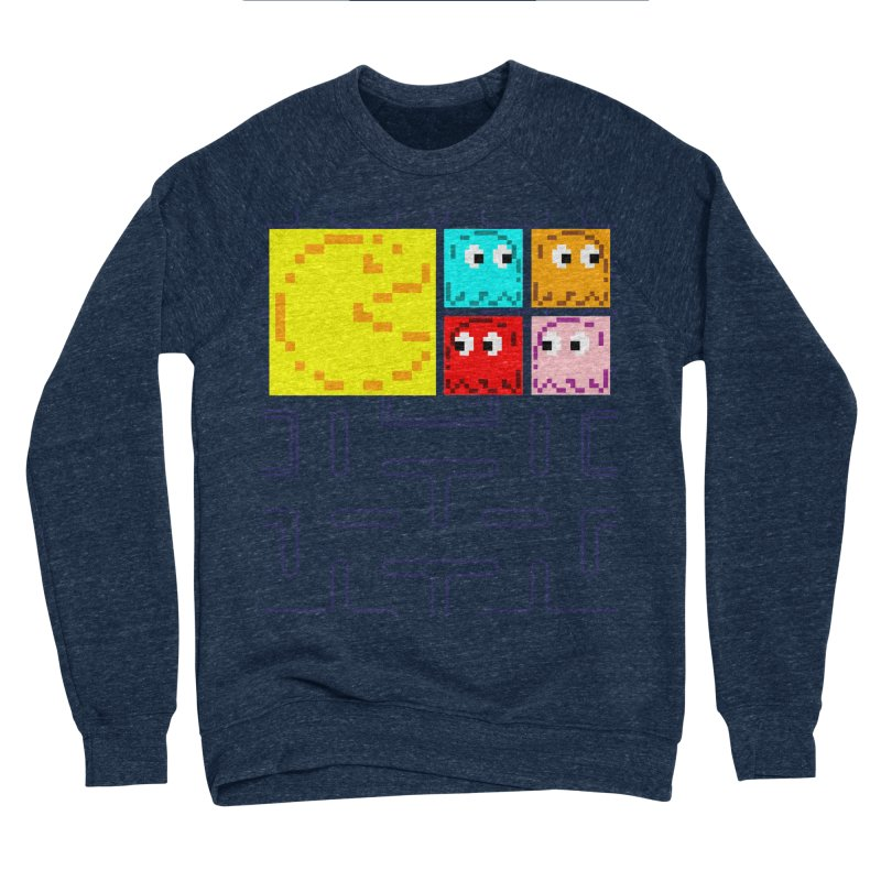 Pac-Maan & The Ghostly Gang Men's Sponge Fleece Sweatshirt by Silli Philli Produktionz