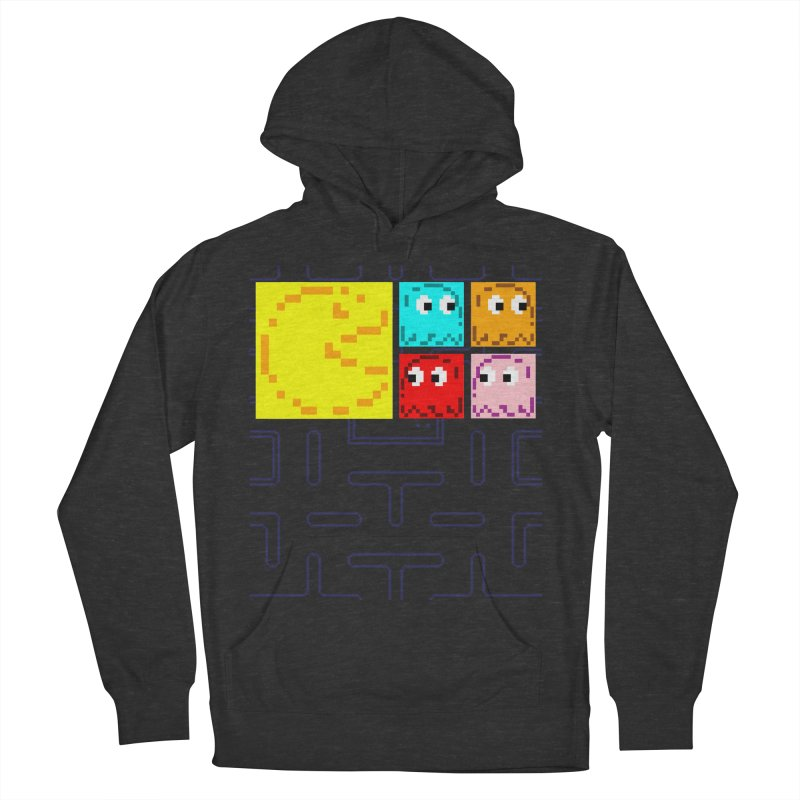 Pac-Maan & The Ghostly Gang Men's French Terry Pullover Hoody by Silli Philli Produktionz
