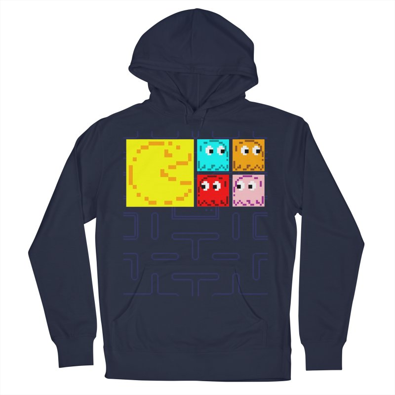 Pac-Maan & The Ghostly Gang Men's French Terry Pullover Hoody by Silli Philli Produktionz   Custom Prints