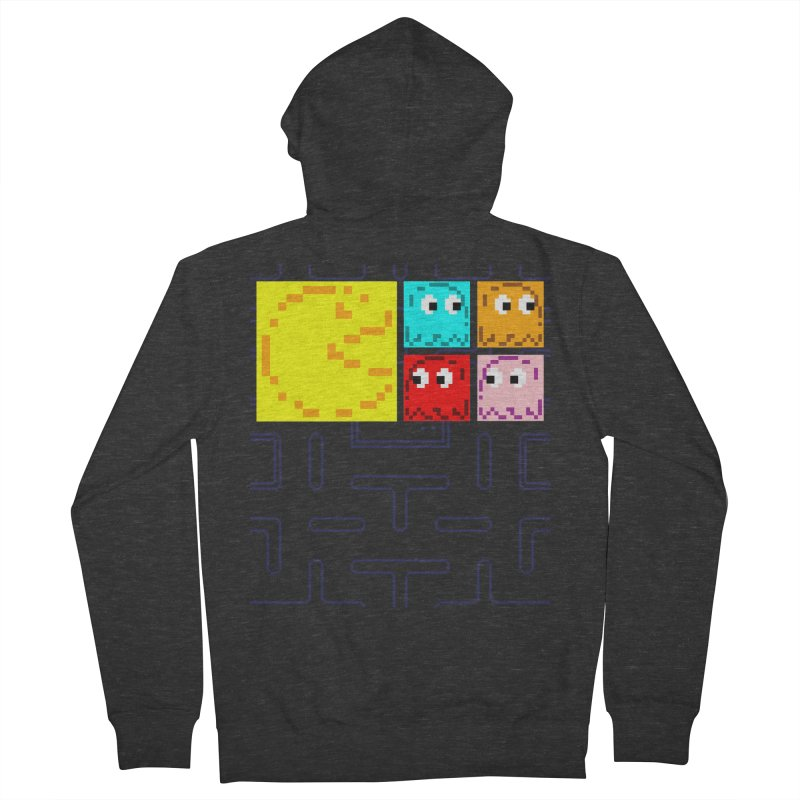 Pac-Maan & The Ghostly Gang Women's French Terry Zip-Up Hoody by Silli Philli Produktionz | Custom Prints
