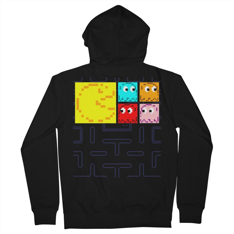 Pac-Maan & The Ghostly Gang Women's French Terry Zip-Up Hoody by Silli Philli Produktionz