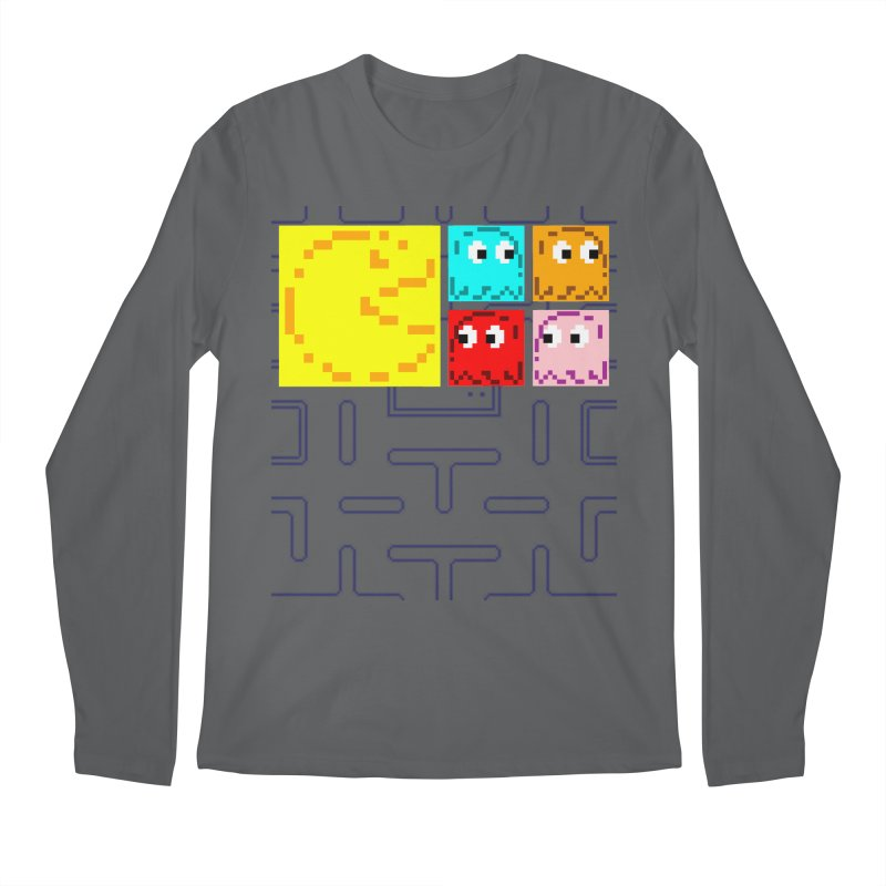 Pac-Maan & The Ghostly Gang Men's Regular Longsleeve T-Shirt by Silli Philli Produktionz