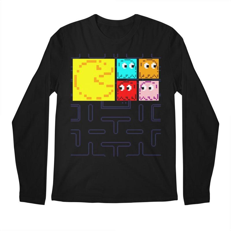 Pac-Maan & The Ghostly Gang Men's Regular Longsleeve T-Shirt by Silli Philli Produktionz | Custom Prints