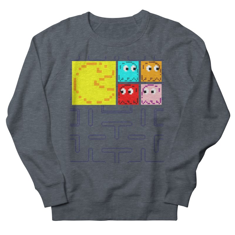 Pac-Maan & The Ghostly Gang Men's French Terry Sweatshirt by Silli Philli Produktionz | Custom Prints