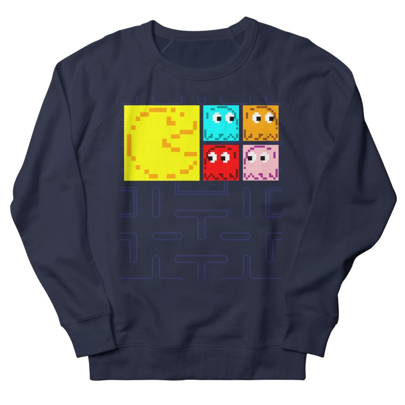 Pac-Maan & The Ghostly Gang Men's French Terry Sweatshirt by Silli Philli Produktionz
