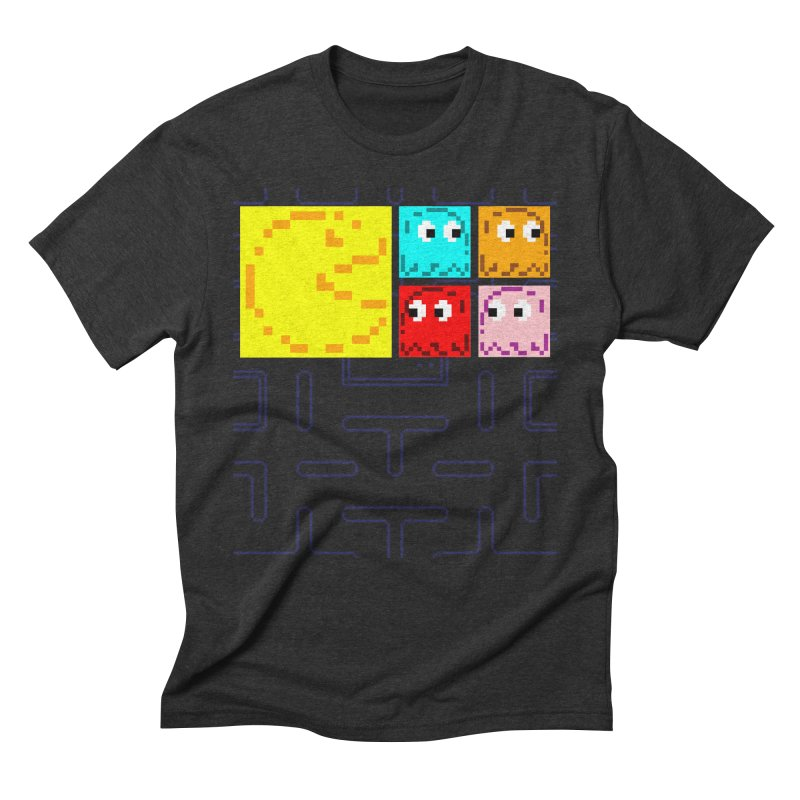 Pac-Maan & The Ghostly Gang Men's Triblend T-Shirt by Silli Philli Produktionz