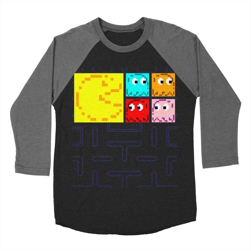 Pac-Maan & The Ghostly Gang Women's Baseball Triblend Longsleeve T-Shirt by Silli Philli Produktionz | Custom Prints