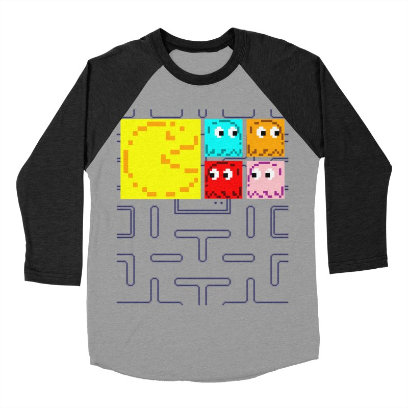 Pac-Maan & The Ghostly Gang Men's Baseball Triblend Longsleeve T-Shirt by Silli Philli Produktionz