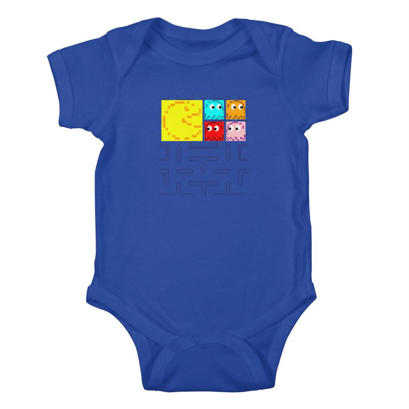 Pac-Maan & The Ghostly Gang Kids Baby Bodysuit by Silli Philli Produktionz