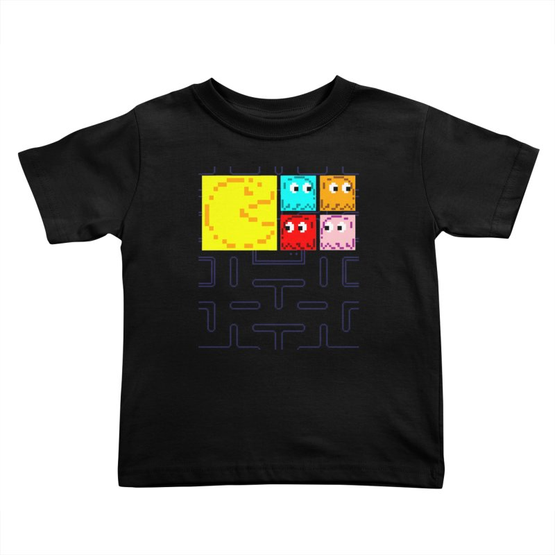 Pac-Maan & The Ghostly Gang Kids Toddler T-Shirt by Silli Philli Produktionz