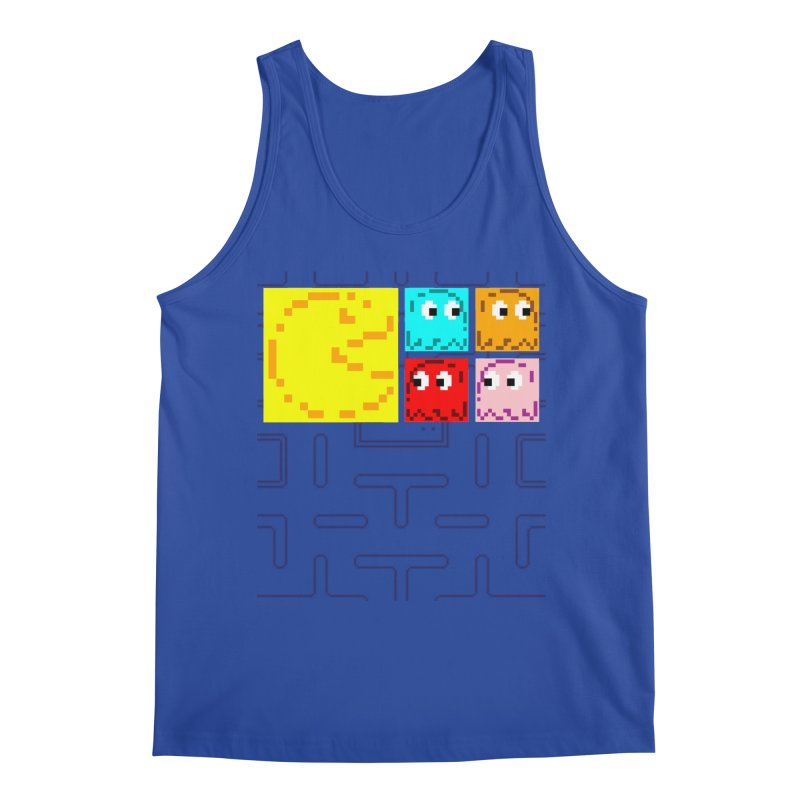 Pac-Maan & The Ghostly Gang Men's Tank by Silli Philli Produktionz | Custom Prints