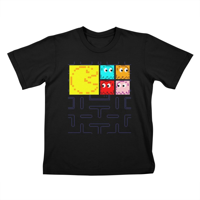Pac-Maan & The Ghostly Gang Kids T-Shirt by Silli Philli Produktionz