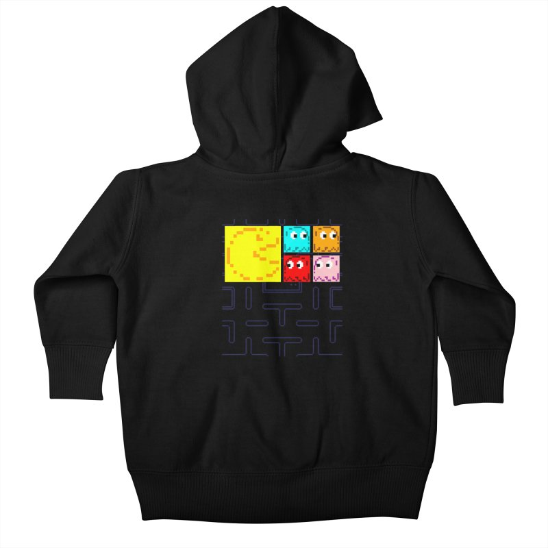 Pac-Maan & The Ghostly Gang Kids Baby Zip-Up Hoody by Silli Philli Produktionz