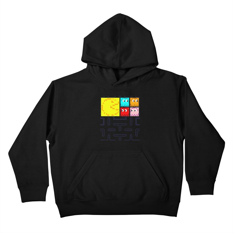 Pac-Maan & The Ghostly Gang Kids Pullover Hoody by Silli Philli Produktionz