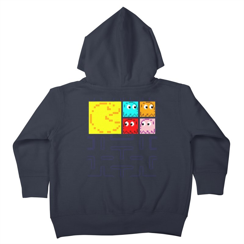 Pac-Maan & The Ghostly Gang Kids Toddler Zip-Up Hoody by Silli Philli Produktionz | Custom Prints