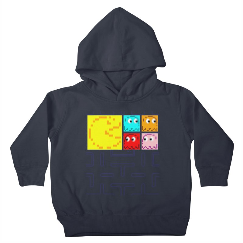 Pac-Maan & The Ghostly Gang Kids Toddler Pullover Hoody by Silli Philli Produktionz