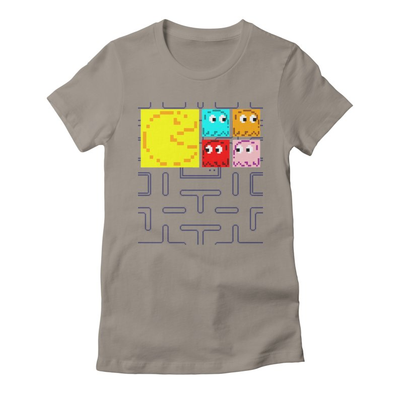 Pac-Maan & The Ghostly Gang Women's Fitted T-Shirt by Silli Philli Produktionz