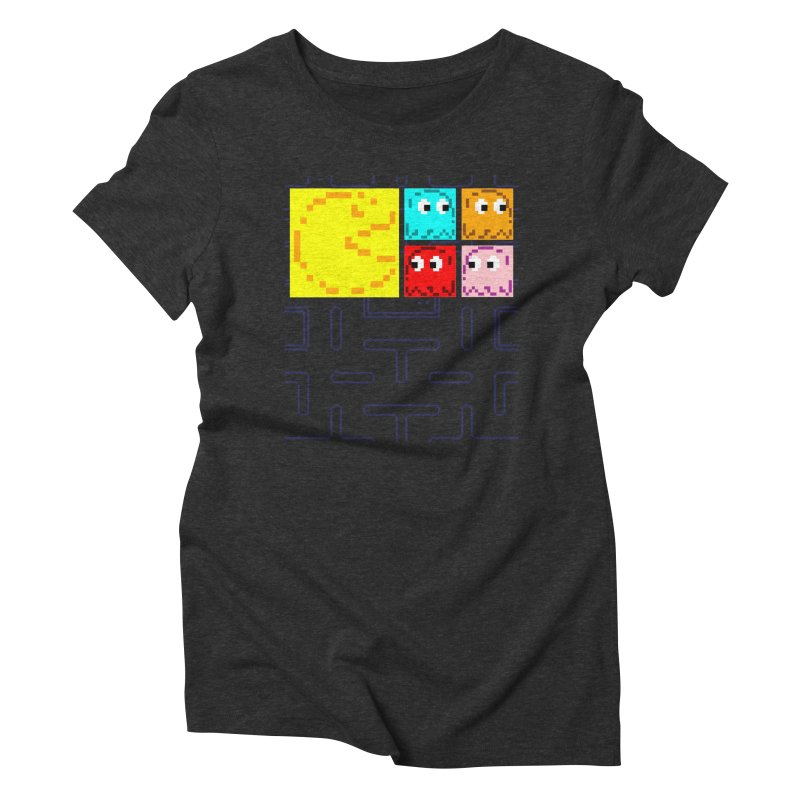 Pac-Maan & The Ghostly Gang Women's Triblend T-Shirt by Silli Philli Produktionz