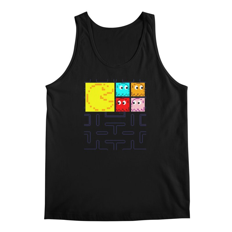 Pac-Maan & The Ghostly Gang Men's Regular Tank by Silli Philli Produktionz
