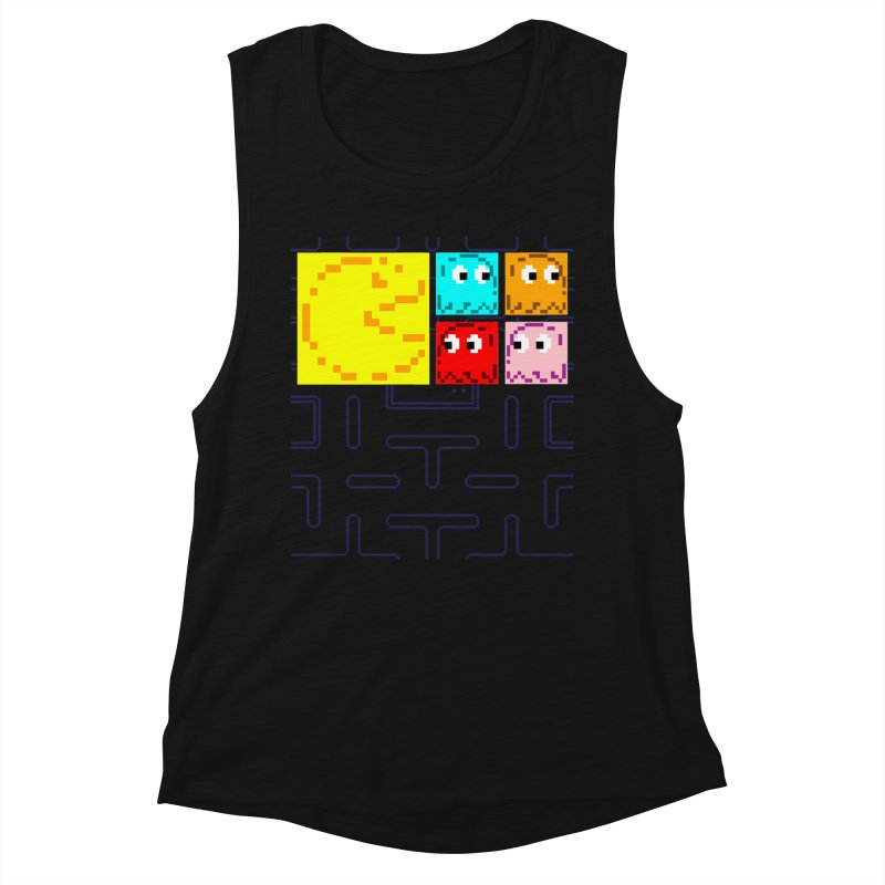 Pac-Maan & The Ghostly Gang Women's Muscle Tank by Silli Philli Produktionz | Custom Prints
