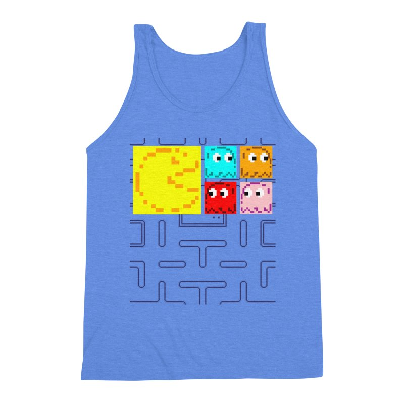 Pac-Maan & The Ghostly Gang Men's Triblend Tank by Silli Philli Produktionz | Custom Prints