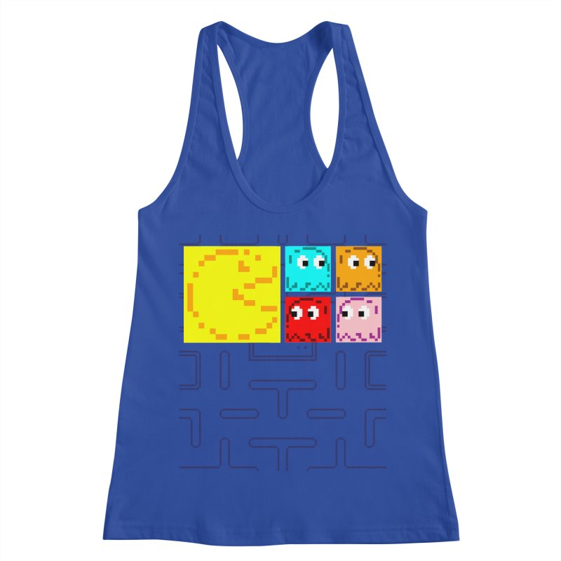Pac-Maan & The Ghostly Gang Women's Racerback Tank by Silli Philli Produktionz