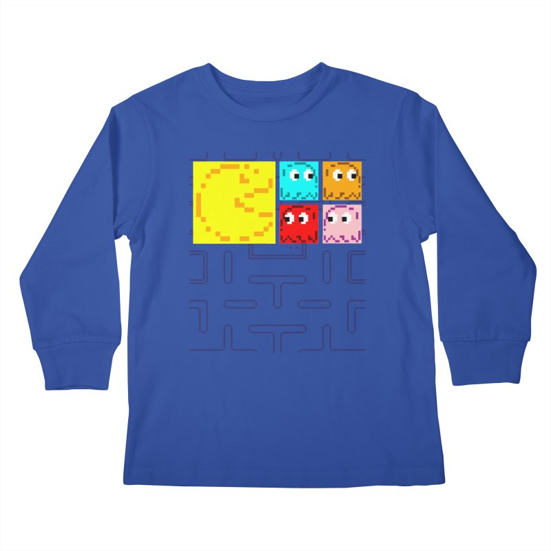 Pac-Maan & The Ghostly Gang Kids Longsleeve T-Shirt by Silli Philli Produktionz