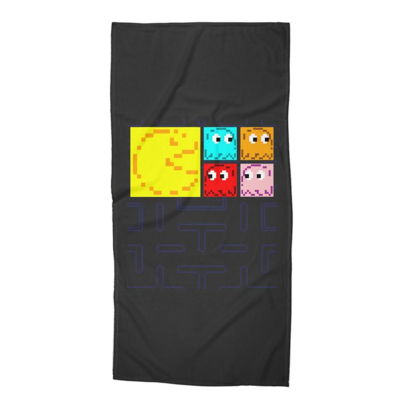 Pac-Maan & The Ghostly Gang Accessories Beach Towel by Silli Philli Produktionz
