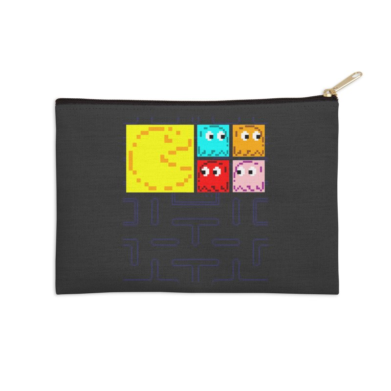 Pac-Maan & The Ghostly Gang Accessories Zip Pouch by Silli Philli Produktionz