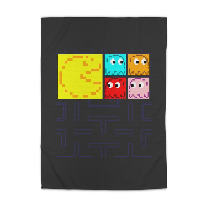Pac-Maan & The Ghostly Gang Home Rug by Silli Philli Produktionz   Custom Prints