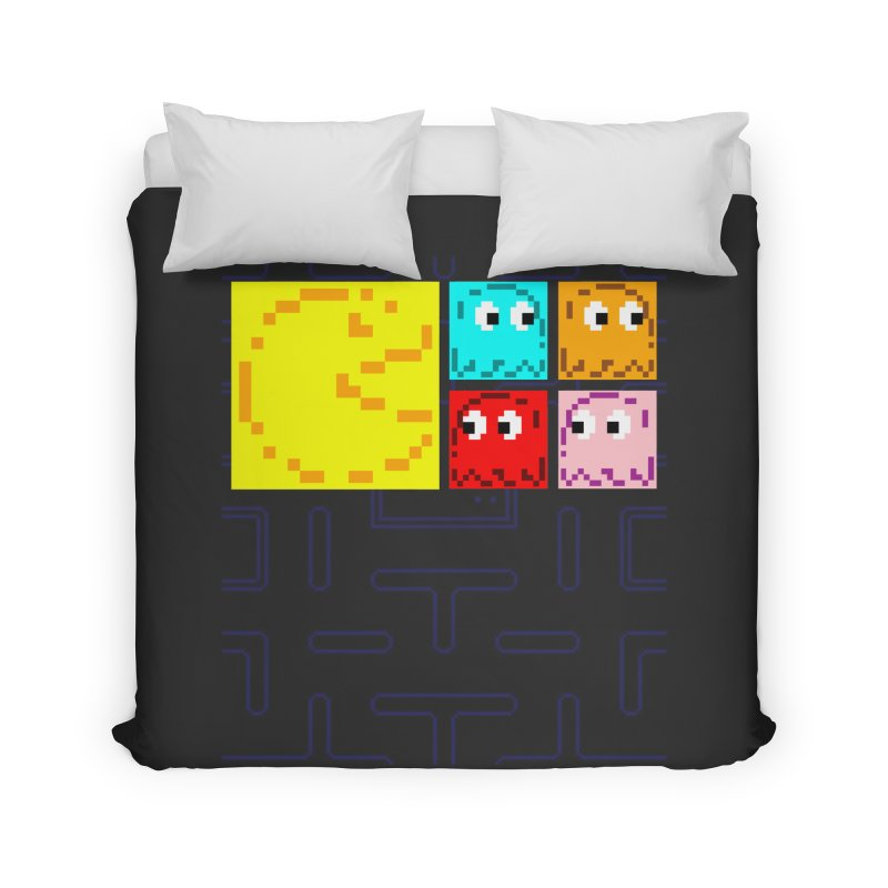Pac-Maan & The Ghostly Gang Home Duvet by Silli Philli Produktionz | Custom Prints