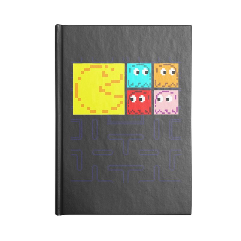 Pac-Maan & The Ghostly Gang Accessories Lined Journal Notebook by Silli Philli Produktionz