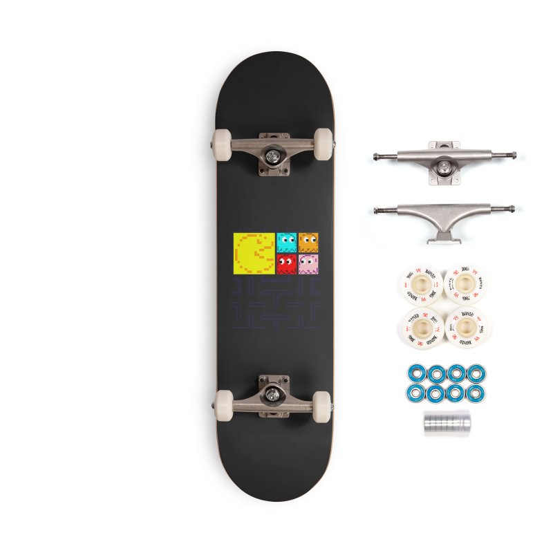 Pac-Maan & The Ghostly Gang Accessories Skateboard by Silli Philli Produktionz | Custom Prints