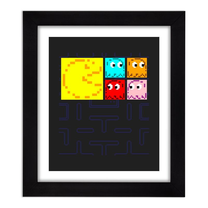 Pac-Maan & The Ghostly Gang Home Framed Fine Art Print by Silli Philli Produktionz   Custom Prints