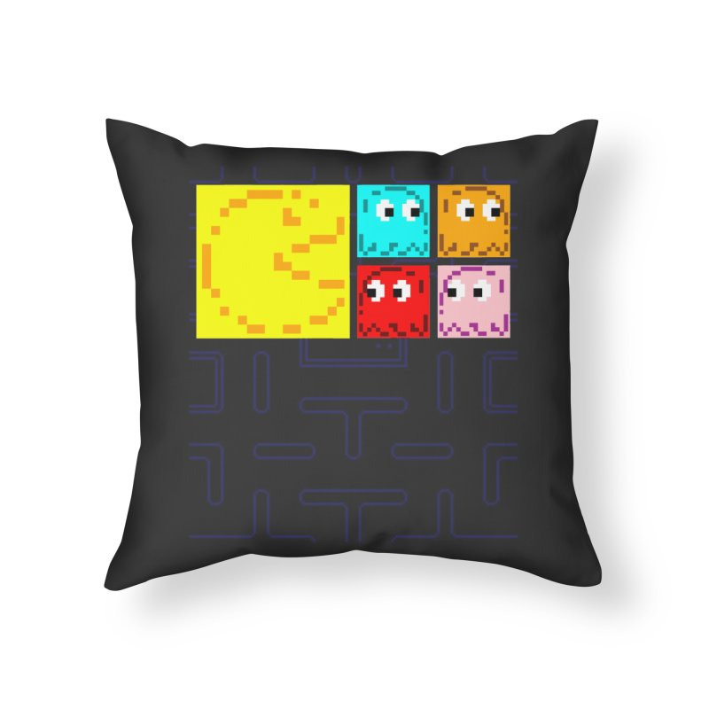 Pac-Maan & The Ghostly Gang Home Throw Pillow by Silli Philli Produktionz | Custom Prints