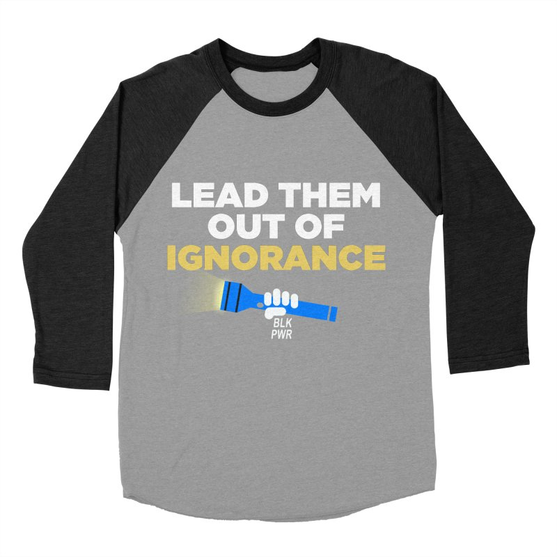 BLKPWR - Out Of Ignorance Women's Baseball Triblend Longsleeve T-Shirt by Silli Philli Produktionz