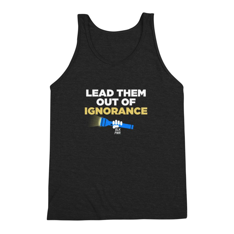 BLKPWR - Out Of Ignorance Men's Triblend Tank by Silli Philli Produktionz