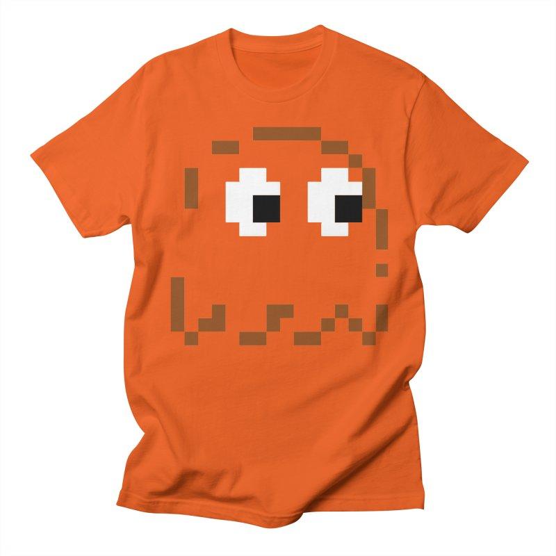 Pacman   Ghost-Clyde Men's Regular T-Shirt by Silli Philli Produktionz