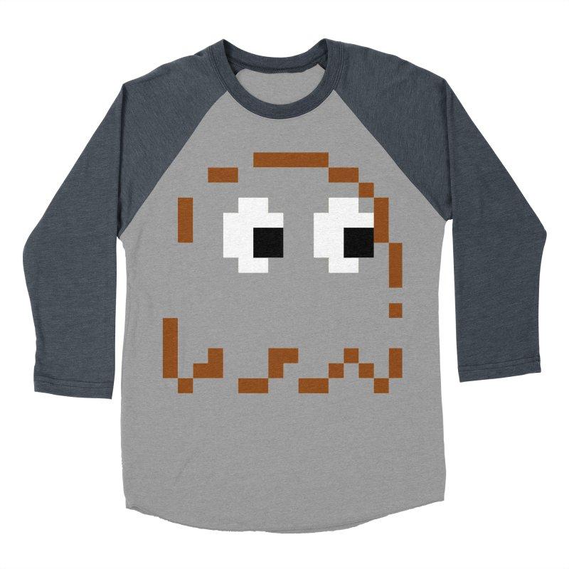 Pacman | Ghost-Clyde Men's Baseball Triblend Longsleeve T-Shirt by Silli Philli Produktionz
