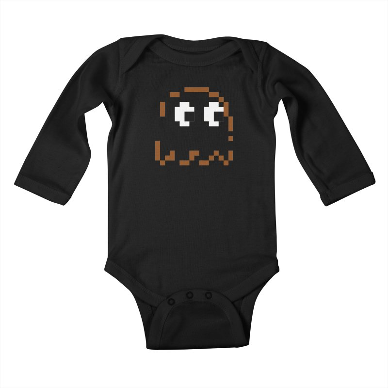 Pacman   Ghost-Clyde Kids Baby Longsleeve Bodysuit by Silli Philli Produktionz