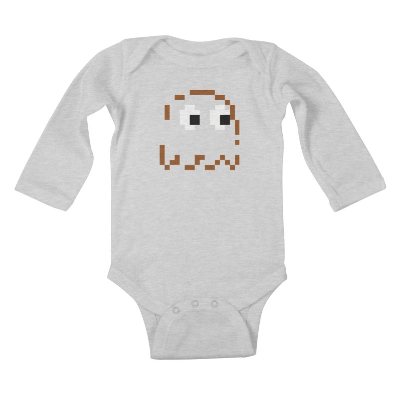 Pacman | Ghost-Clyde Kids Baby Longsleeve Bodysuit by Silli Philli Produktionz
