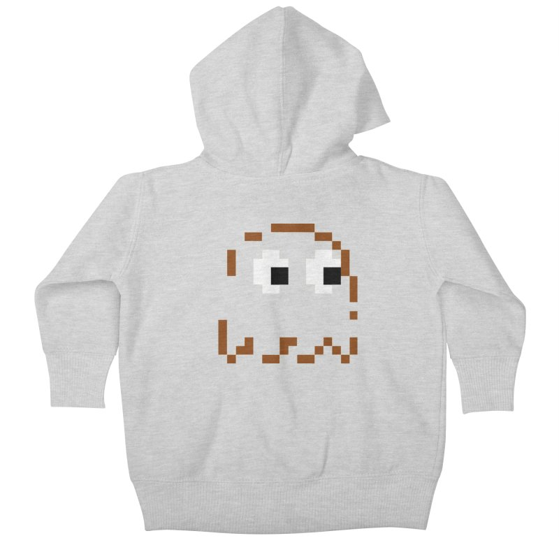 Pacman | Ghost-Clyde Kids Baby Zip-Up Hoody by Silli Philli Produktionz