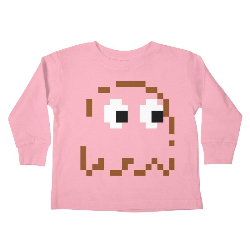 Pacman | Ghost-Clyde Kids Toddler Longsleeve T-Shirt by Silli Philli Produktionz