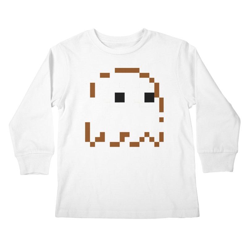 Pacman | Ghost-Clyde Kids Longsleeve T-Shirt by Silli Philli Produktionz