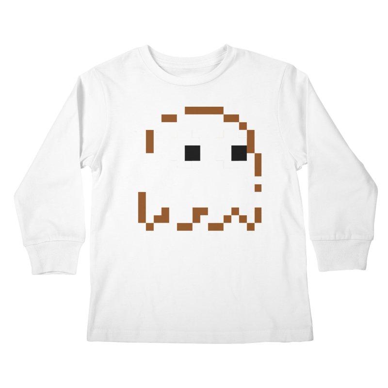 Pacman   Ghost-Clyde Kids Longsleeve T-Shirt by Silli Philli Produktionz