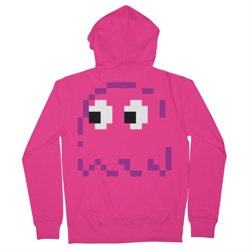 Pacman | Ghost Pinky Men's French Terry Zip-Up Hoody by Silli Philli Produktionz