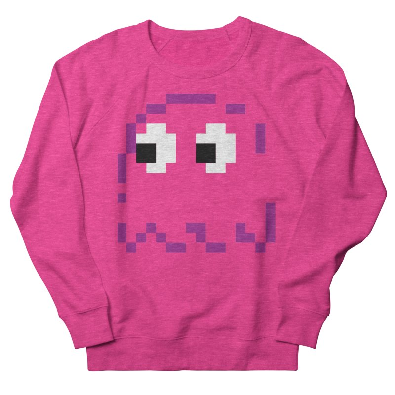 Pacman | Ghost Pinky Women's French Terry Sweatshirt by Silli Philli Produktionz