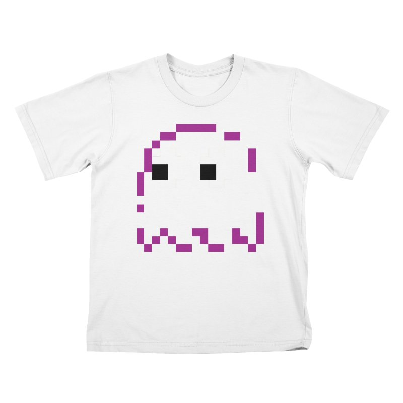Pacman | Ghost Pinky Kids T-Shirt by Silli Philli Produktionz | Custom Prints