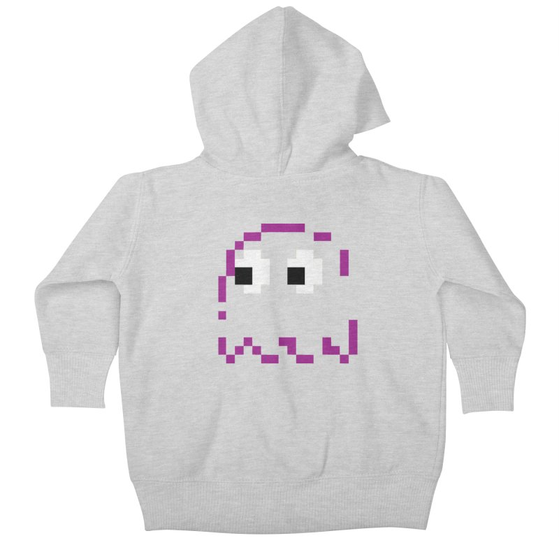 Pacman | Ghost Pinky Kids Baby Zip-Up Hoody by Silli Philli Produktionz