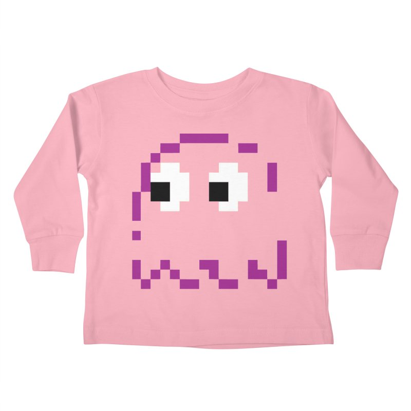 Pacman | Ghost Pinky Kids Toddler Longsleeve T-Shirt by Silli Philli Produktionz